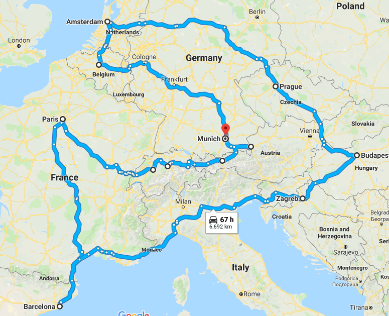 THE GRAND TOUR OF EUROPE